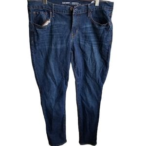 Old Navy  Long Dark Wash Mid Rise Jeans,Size 12